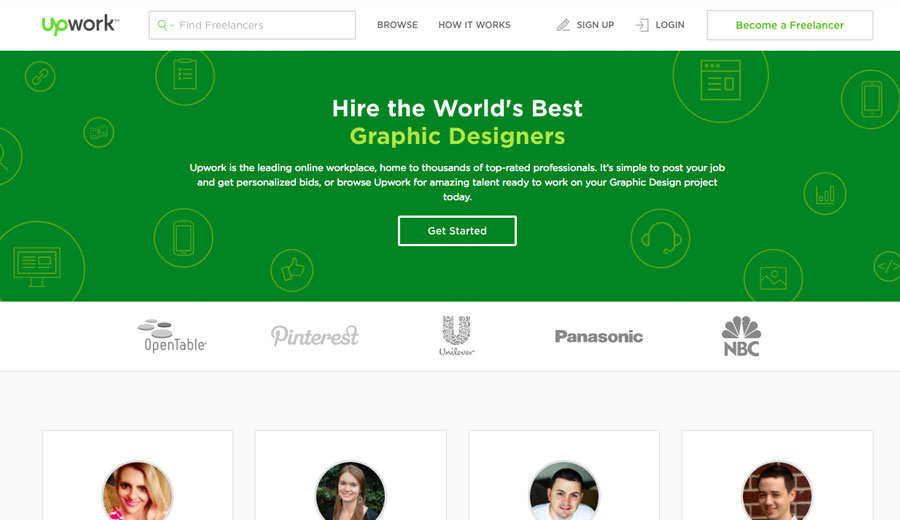 Upwork logo creation